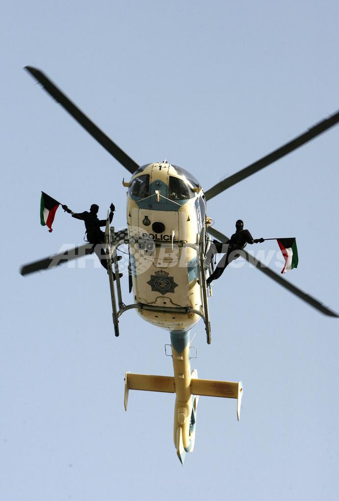 建国・解放記念日を控えたクウェート、特殊部隊が技を披露