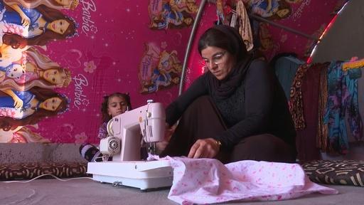 動画:家計支える女性ヤジディー教徒たち、ISの暴虐で一家離散