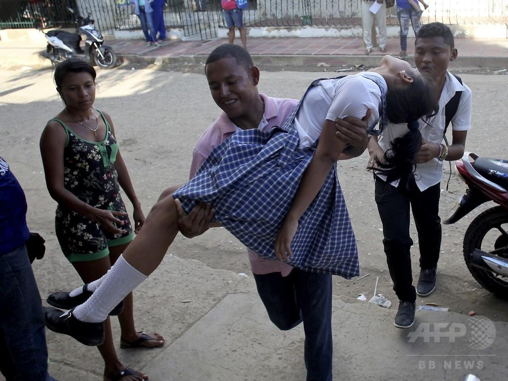 コロンビアの少女らに謎の症状、住民は子宮頸がんワクチン疑う