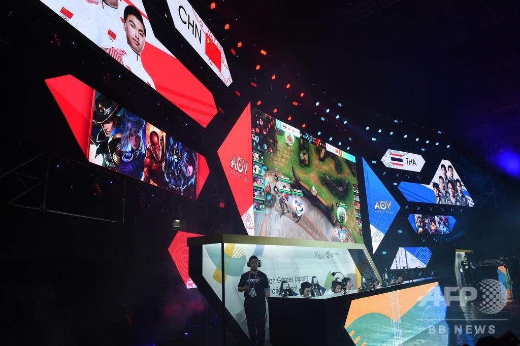 eスポーツの中国代表、アジア大会で金メダル 市場は1000億元規模に