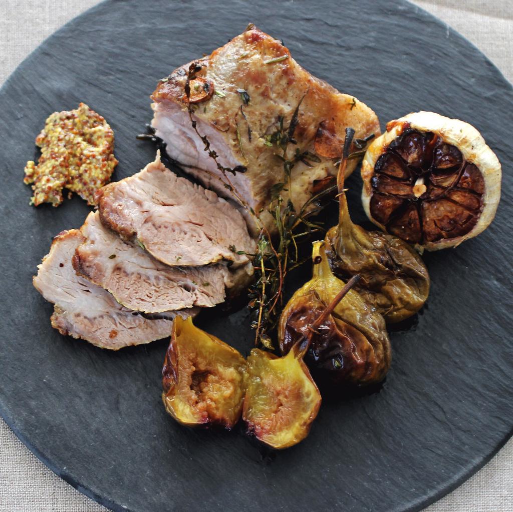 <Plat du Jour pour Moët & Chandon>豚肉とイチジクのロースト