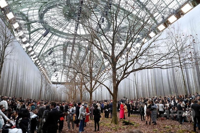 森を再現したセット「シャネル」18/19年秋冬コレクション、環境活動家からは非難の声