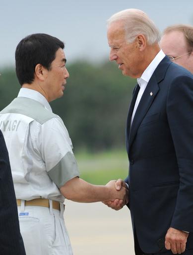 バイデン米副大統領が宮城県を訪問