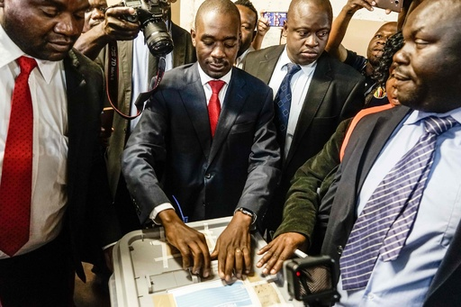 ジンバブエ大統領選、野党代表が「圧勝」宣言