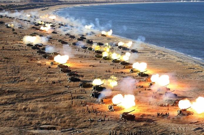 北朝鮮、ソウル標的に砲撃演習 「たたきつぶす」と金正恩氏