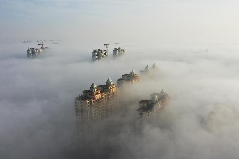 邢台市で街覆う移流霧が発生 河北省 写真7枚 国際ニュース:AFPBB News