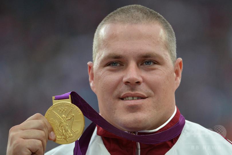 ロンドン五輪金のハンマー投げ選手、薬物違反で資格停止に