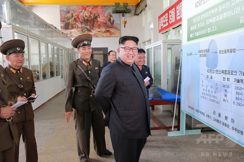 金正恩氏、ロケットエンジンなど増産指示 ミサイル開発の進展誇示