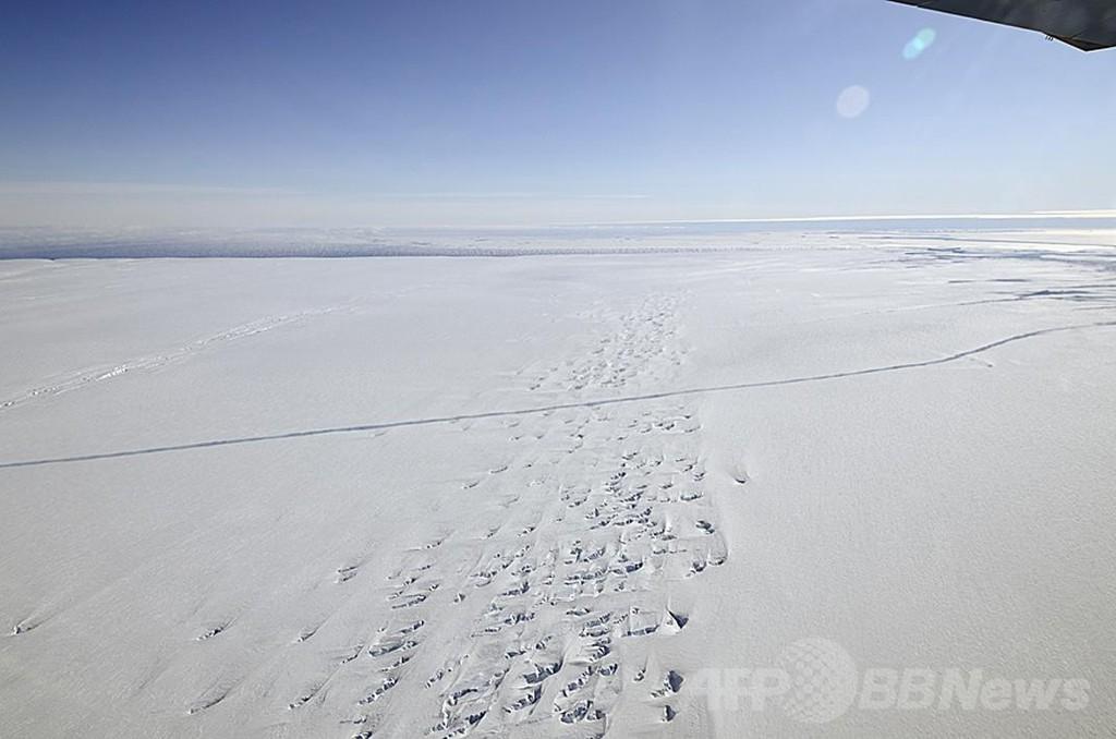 南極巨大氷河の融解進む、20年で1センチの海面上昇も 研究
