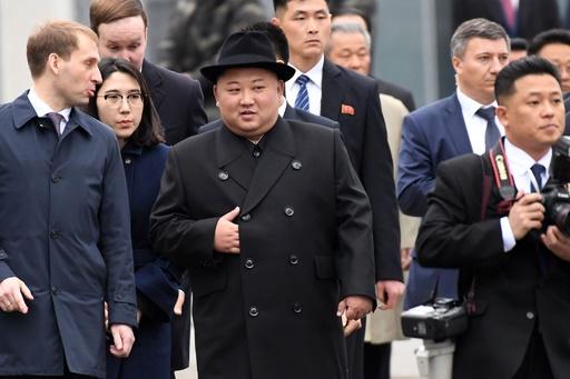 金氏、ウラジオストクに到着 プーチン氏との会談成功に期待示す