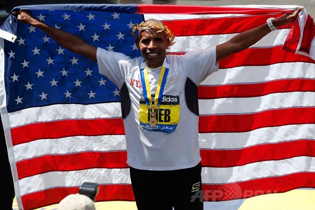 男子はケフレジギ、女子はジェプトゥーが優勝 ボストン・マラソン