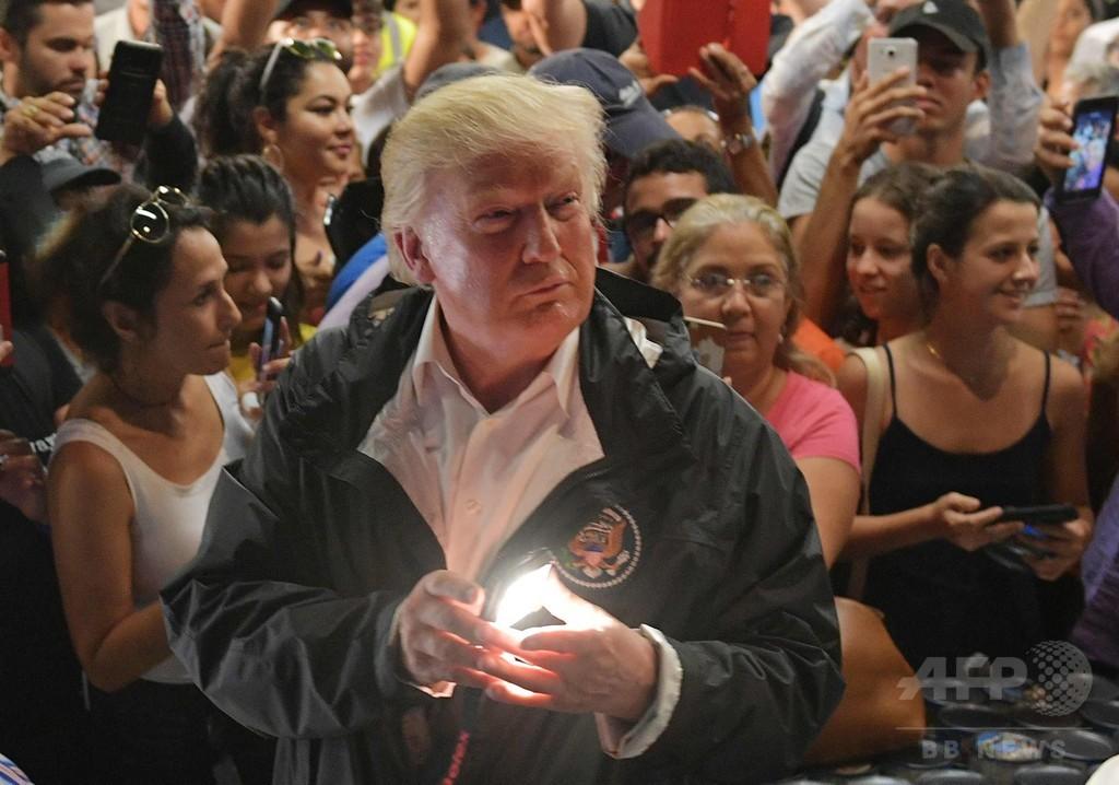 トランプ大統領、ハリケーン被災のプエルトリコ訪問 災害対応「誇っていい」