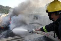 中国・浙江省の靴工場で火災