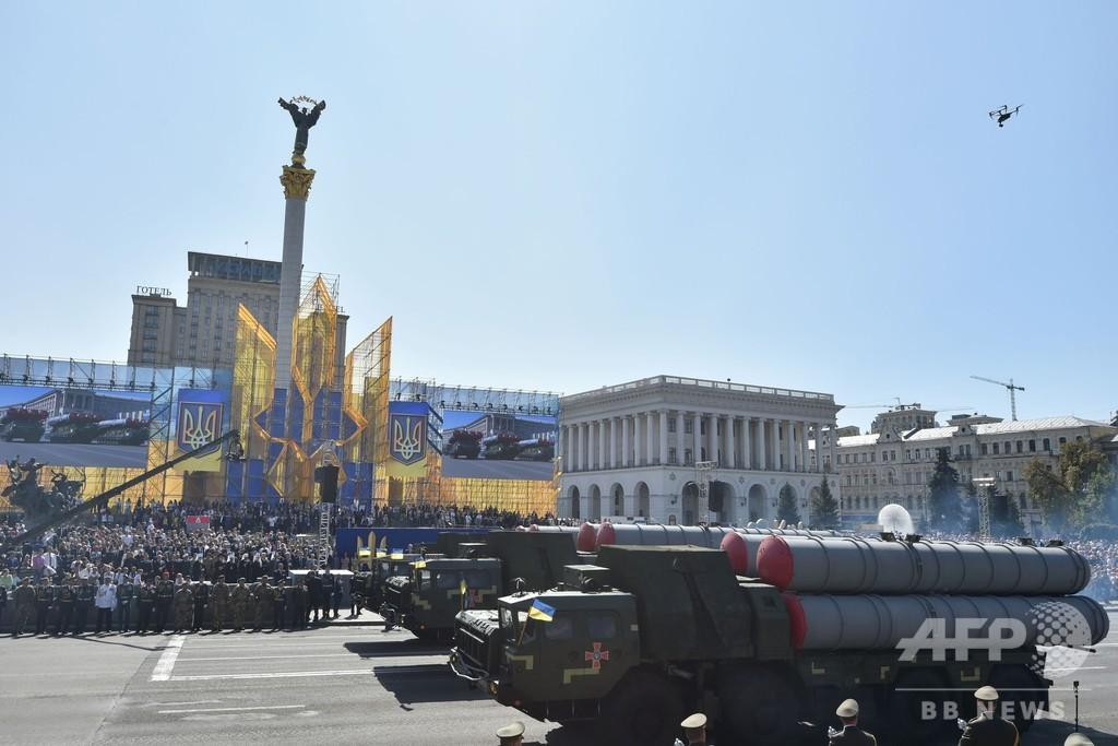 独立宣言から27年 ウクライナ、...