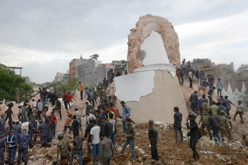 ネパールでM7.9の地震、数百人が死亡か