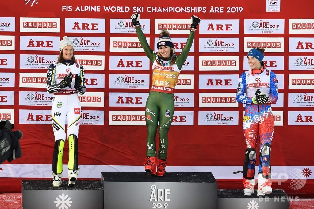 シフリンが回転4連覇、男女通じて史上初の快挙 世界アルペン