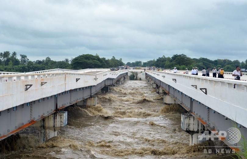豪雨によりダム決壊、100か所の村が浸水被害 ミャンマー