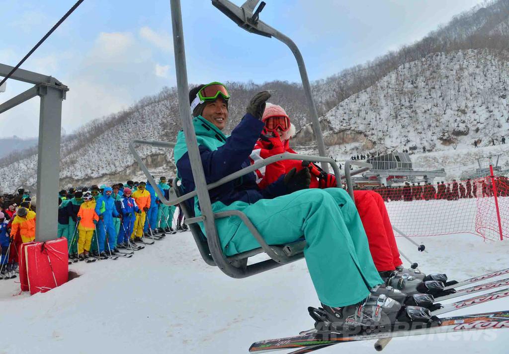 北朝鮮の馬息嶺スキーリゾートが開業、金第1書記の肝煎り