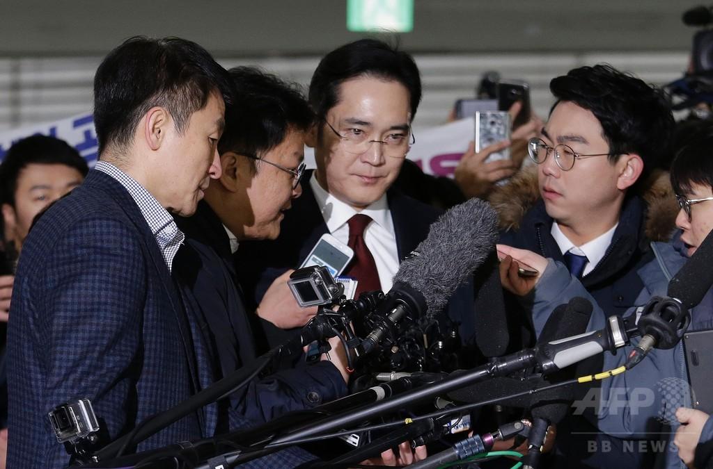 サムスン副会長の逮捕状請求、韓国・国政介入疑惑