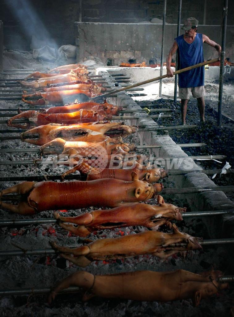 エボラウイルス感染ブタ発見のフィリピン、食肉販売は好調