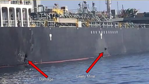 中東タンカー攻撃、「船員らが飛来物を目撃」と運航会社