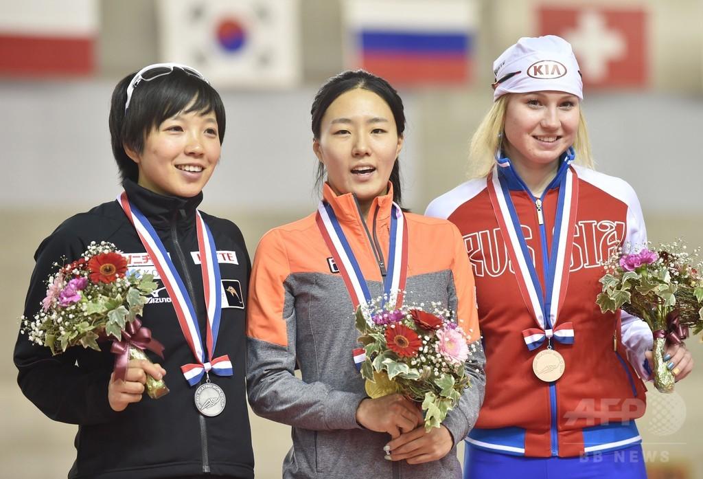 小平が女子500mで2位、スピードスケートW杯