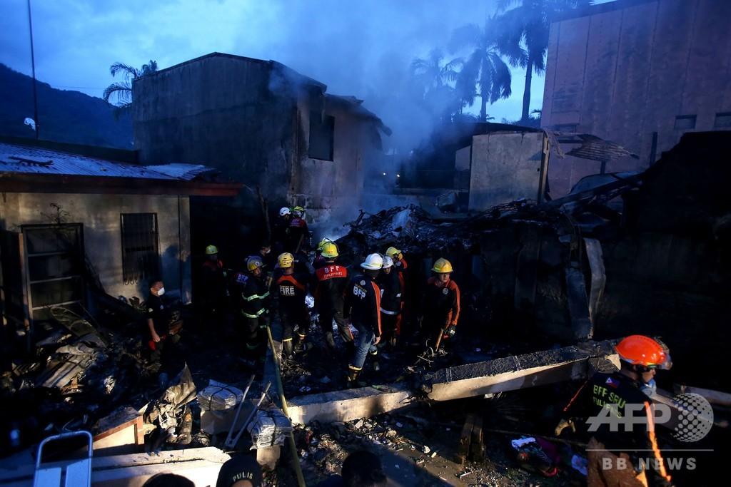 フィリピンで救急搬送用の小型機墜落、9人死亡