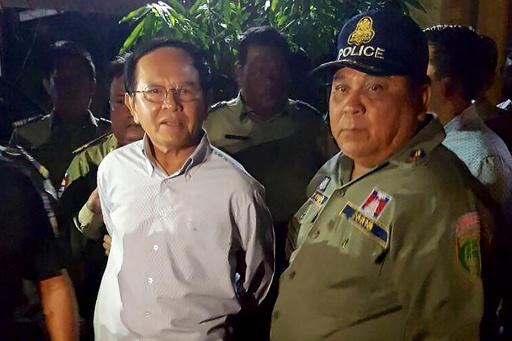 カンボジア最大野党の党首、国家反逆およびスパイ行為の罪で起訴