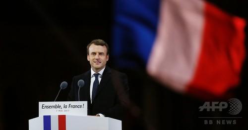 エマニュエル・マクロン仏新大統領誕生へ、39歳の奇才政治家