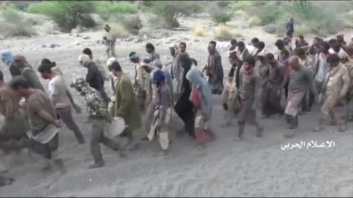動画:イエメンのフーシ派、「サウジ兵大量拘束」主張 捕虜の映像公開