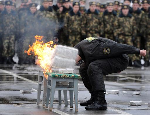 冬の終わりに腕試し、ベラルーシの特殊部隊