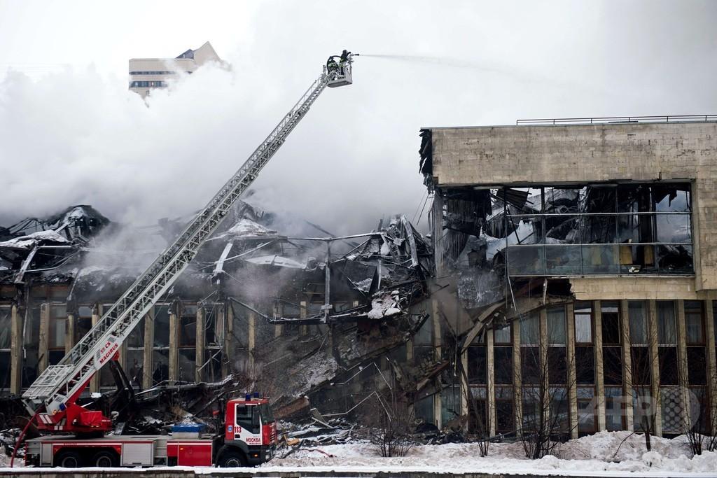 ロシア最大規模の学術図書館で火災、貴重文書が多数損失