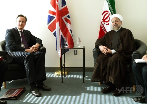 シリア過激派対策、イランも「解決の一助に」 英首相が訴え