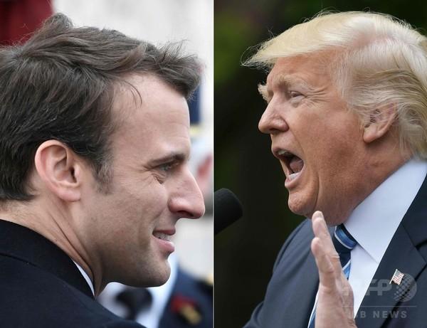トランプ氏、マクロン氏と25日会談へ 仏大統領選出に電話で祝意