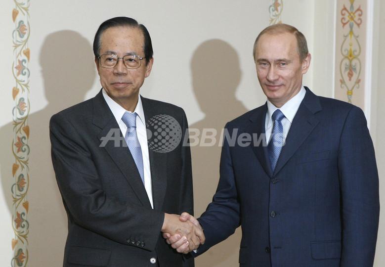 福田首相、ロシアの大統領と次期大統領と会談