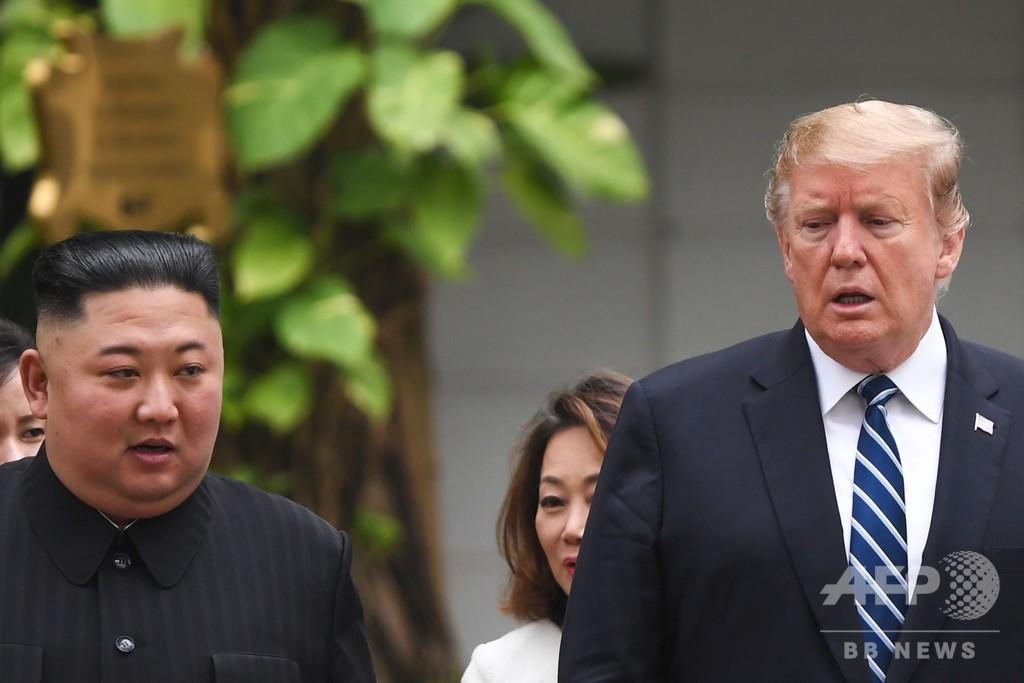 米朝首脳会談「合意に至らず」、ホワイトハウス発表 調印式行わず