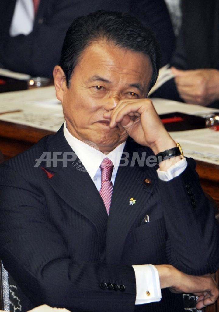 麻生首相「解散は考えていない」、予算案成立を優先