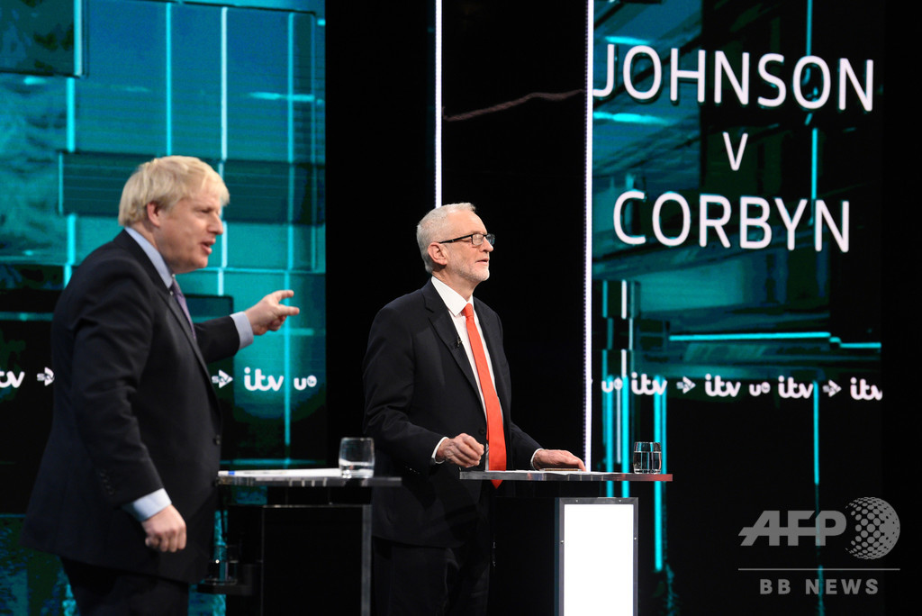 英総選挙、初の与野党党首討論 ブレグジットや公的医療制度で激論