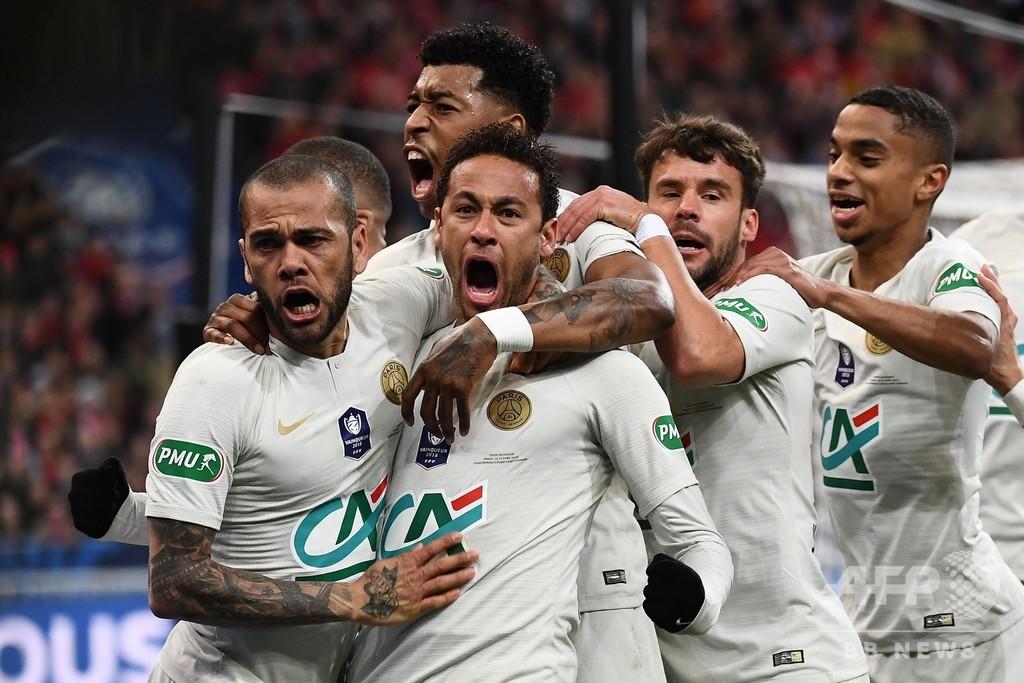 エムバペが一発退場、PSGはPK戦で敗れ国内2冠逃す 仏杯