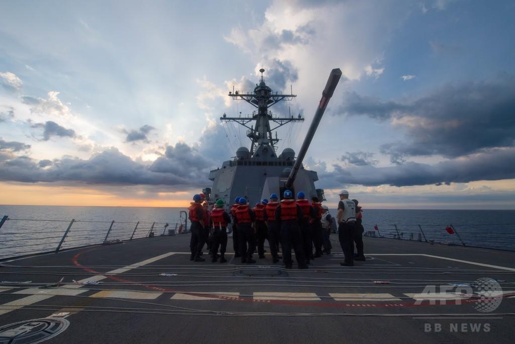 米海軍、南沙諸島で「航行の自由作戦」実施 トランプ政権下初