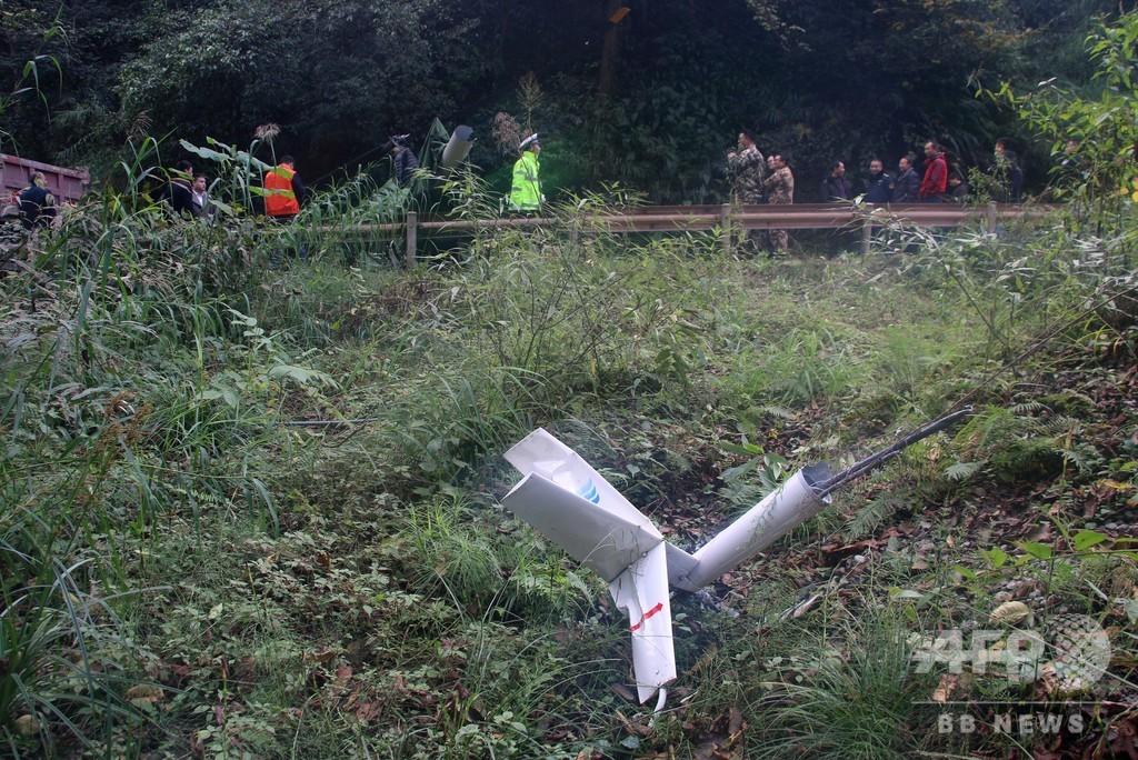四川・峨眉山で小型ヘリが墜落、パイロットが軽傷