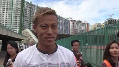 動画:本田圭佑、ボルト氏との対戦熱望「実現すれば最高」