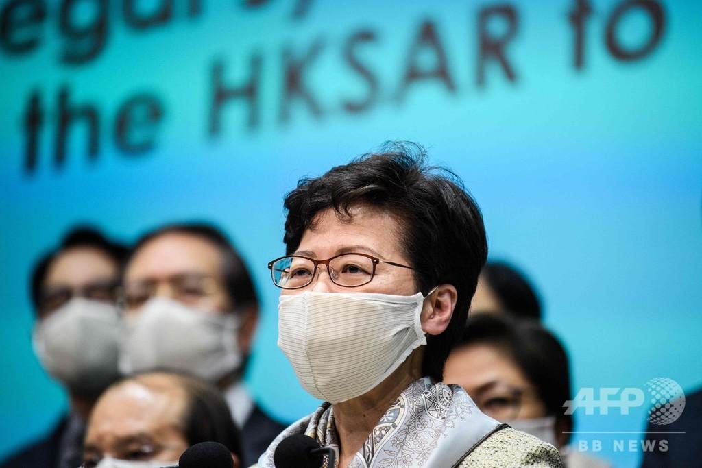 香港行政長官、米国を「ダブルスタンダード」と批判 抗議行動への対応めぐり