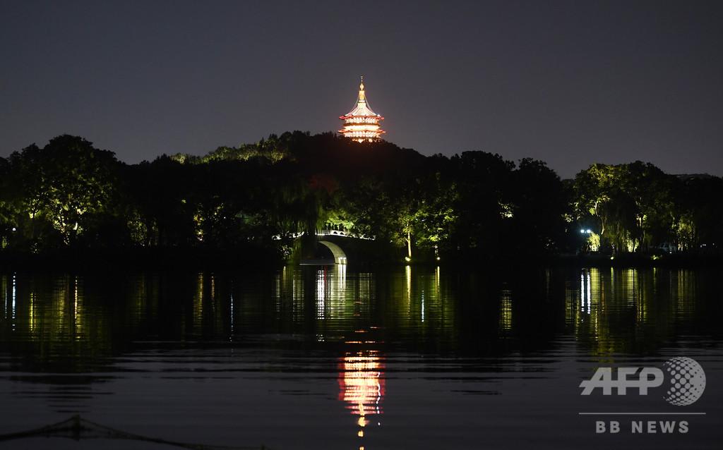 西湖の夜景 浙江省・杭州