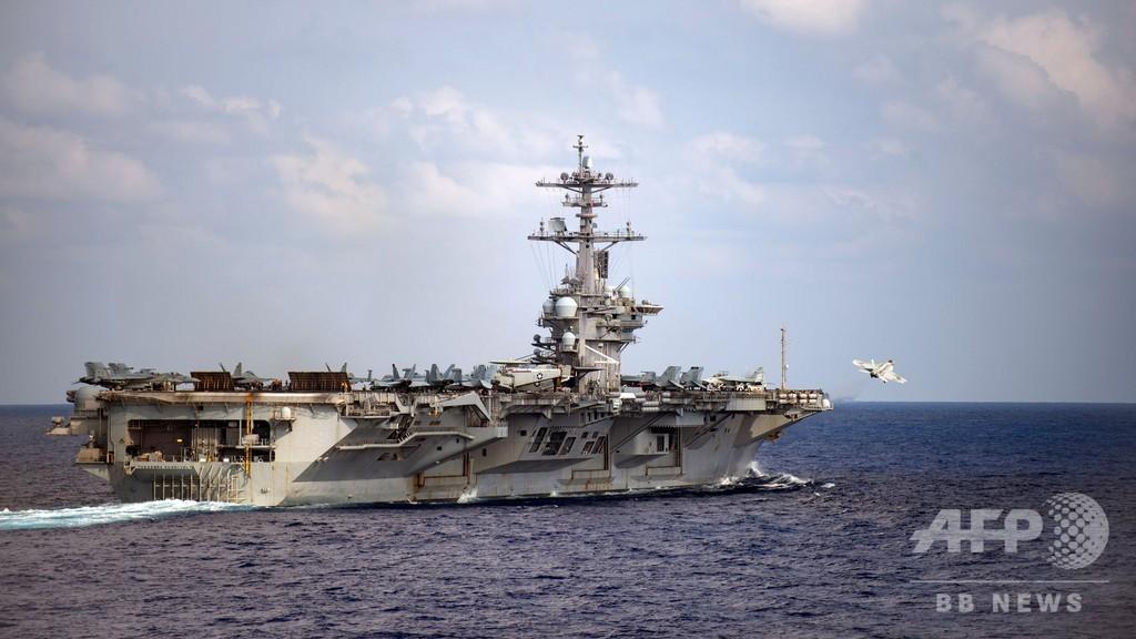 米空母でコロナ感染拡大「加速」 艦長が支援要請