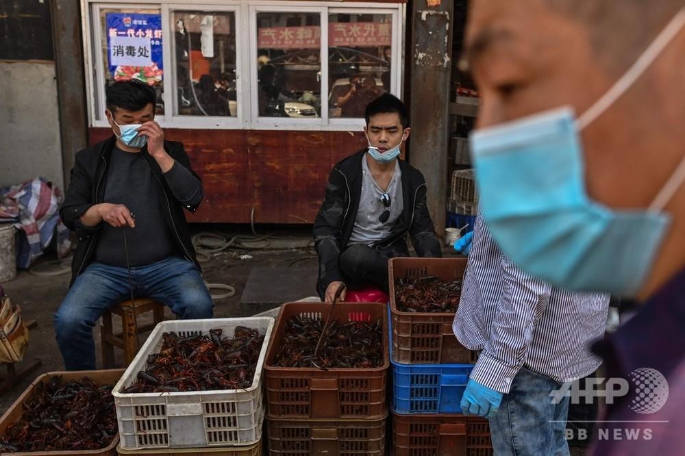 武漢 市場 中国