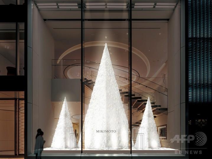 「ミキモト」純白のクリスマスツリー、23日から
