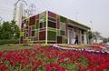 花を添える「景観デザイントイレ」 北京