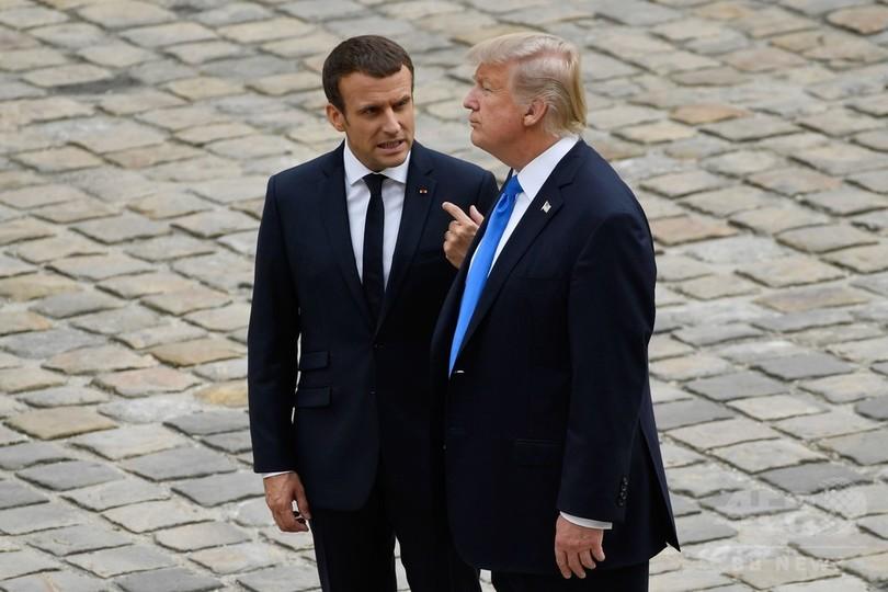 米仏首脳が北朝鮮問題で電話会談、トランプ氏 改めて「軍事的措置」警告
