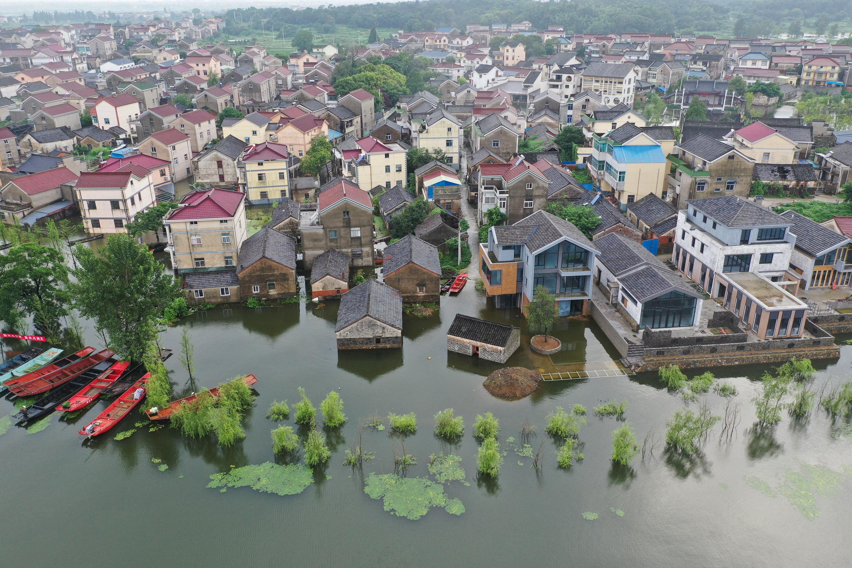 石臼湖の水位上昇続く 江蘇省南京市